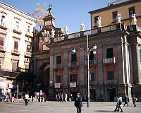 Naples - Italy - Port�Alba - Piazza Dante