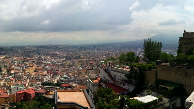 View from San Martino on Vomero hill
