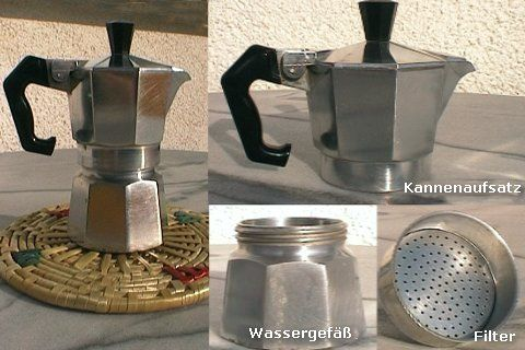 Traditional Italian Moka pot (© Portanapoli.com)